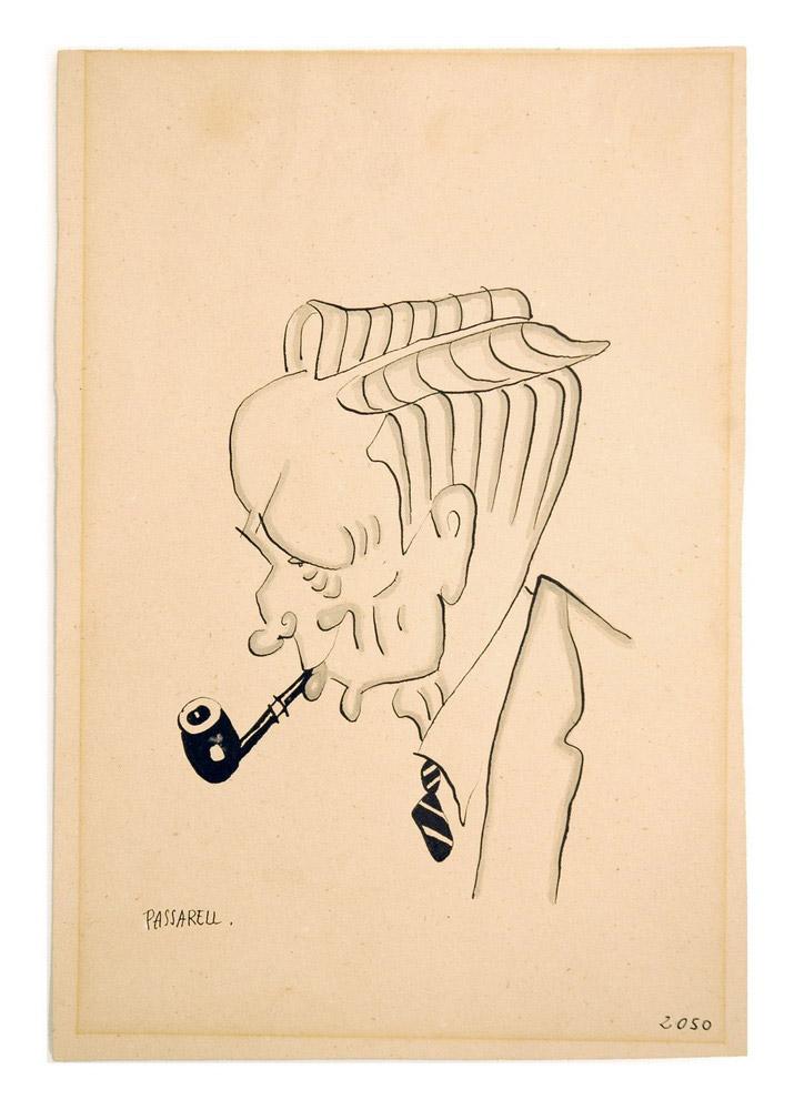 Caricatura de Pompeu Fabra - s.XX - Museu de Badalona