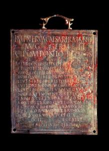 Tabula hospitalis - Època romana - Museu de Badalona